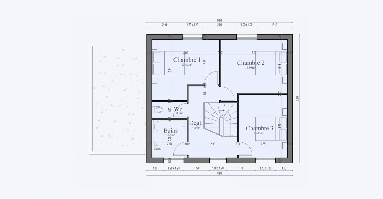 Plan Maison Familiale Etage Condo 807 191320354805/ BONIFACIO 103 3