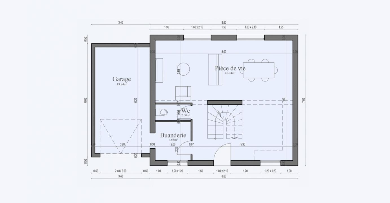 Plan Maison Familiale Rez De Chaussee Condo 807 191320352005/ BONIFACIO 103 3