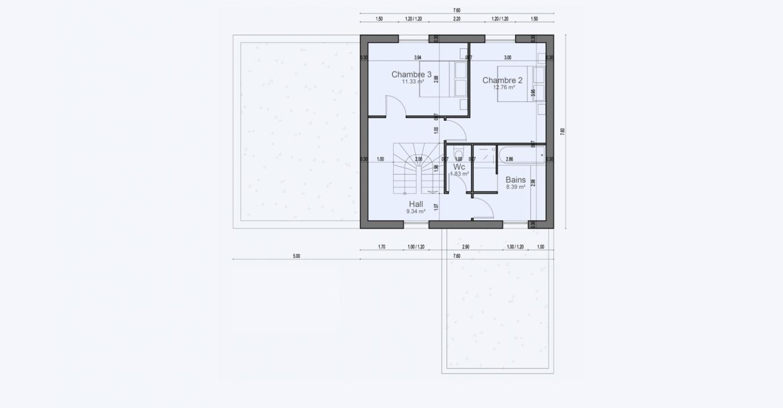 Plan Maison 2 Niveux Etage Garage Garden 712 191320390105/ BONIFACIO 123 3