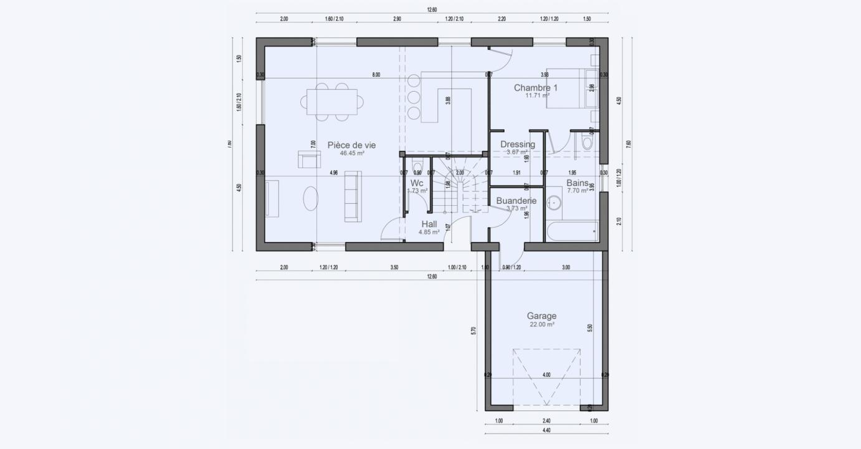 Plan Maison 2 Niveux Rez De Chaussee Garage Garden 712 191320383905/ BONIFACIO 123 3