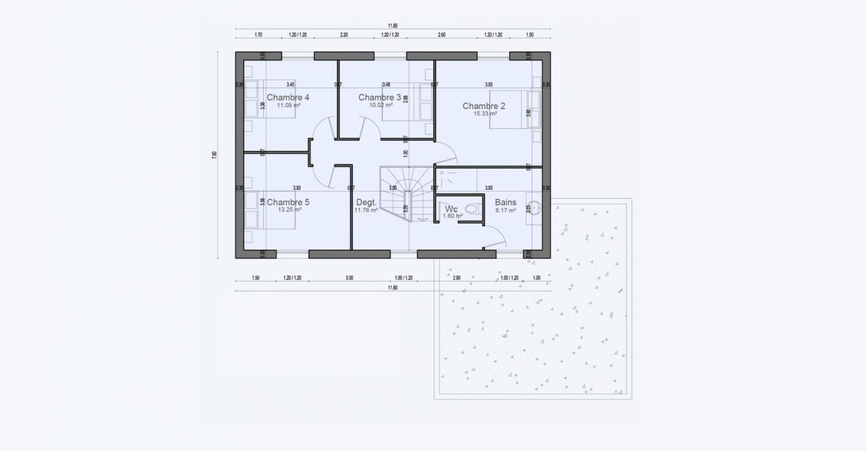 Plan Maison Etage Garage Condo 711 191320372405/ BONIFACIO 144 5