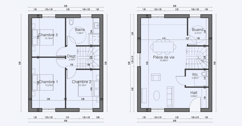 Plan Maison Petites Parcelles Etage Condo 608 191320401105/ Condo 608