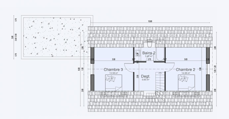 Plan Maison Comble Amenage Etage Cottage 610 191320305705/ Cottage 610