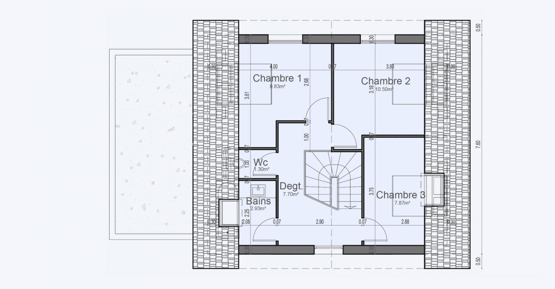 Plan Maison Etage Comble Garage Cottage 807 191320270105/ Cottage 807